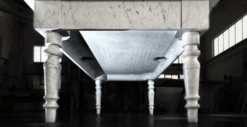 biliardo alleggerito in marmo
