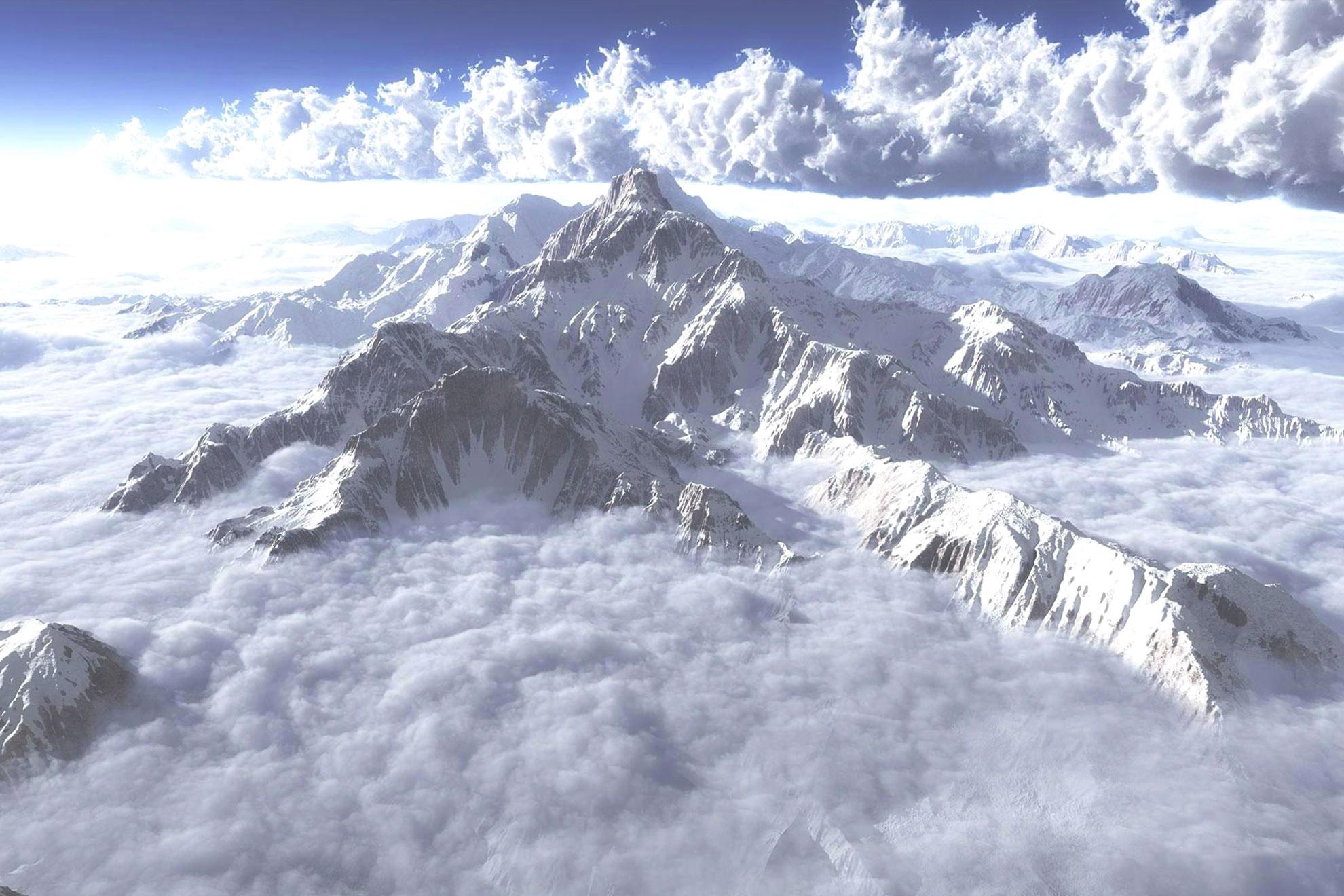 montagna con nuvole - collezione nuvole