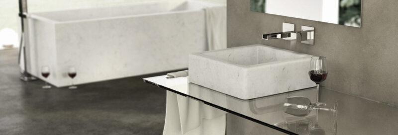 Lavandino in marmo alleggerito - Dedalo Stone