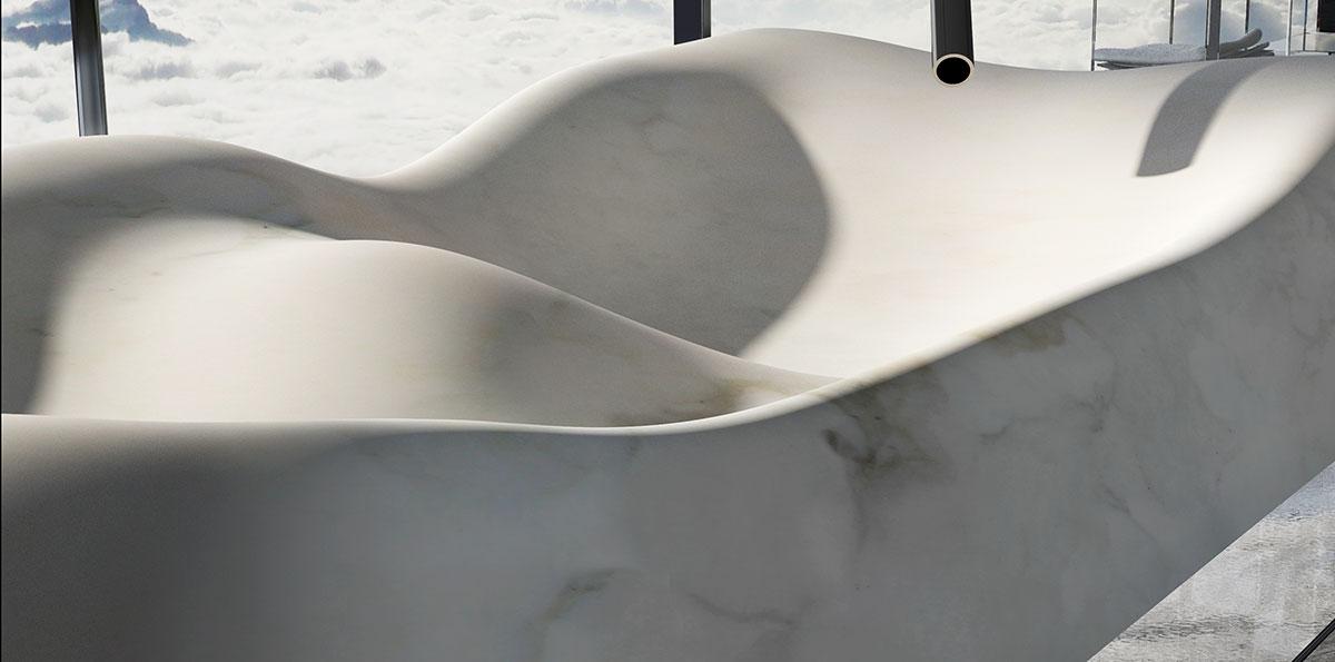 lavabo in marmo carrara