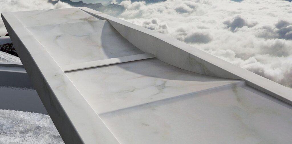 lavandino alleggerito in marmo moderno