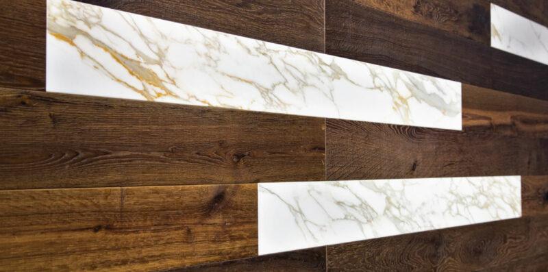 abbinare marmo e legno