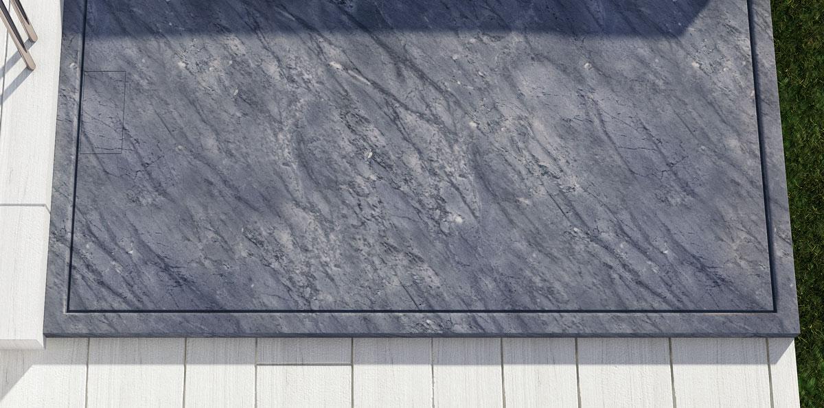 piatto doccia in marmo bardiglio quadrato