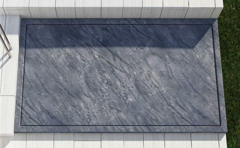 Piatto doccia in marmo grigio su misura