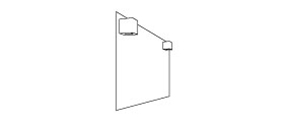 MIRROR WITH LED LIGHT CUBE – QUADRO - disegno