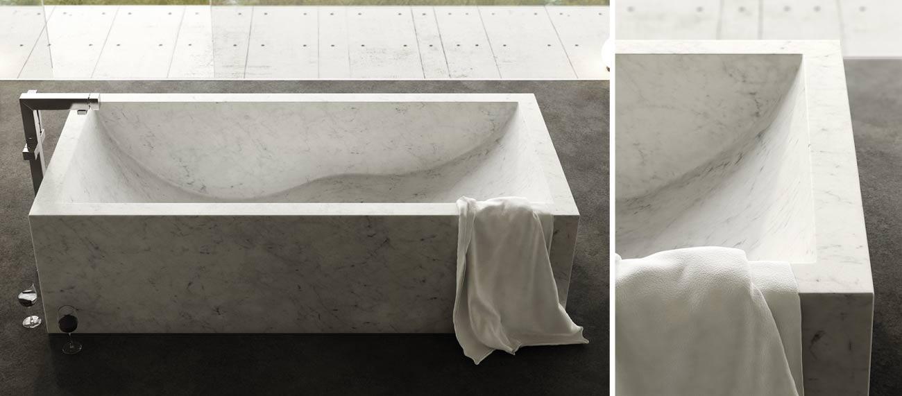 vasca da bagno in marmo moderna Onda