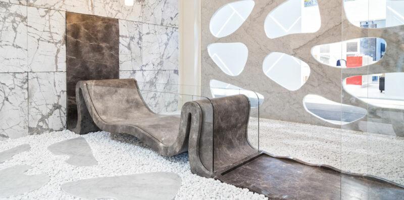 Vasca da bagno in marmo e vetro - Hydra