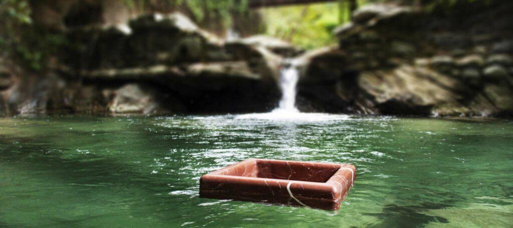 Floating lightweight marble sink - Quadra