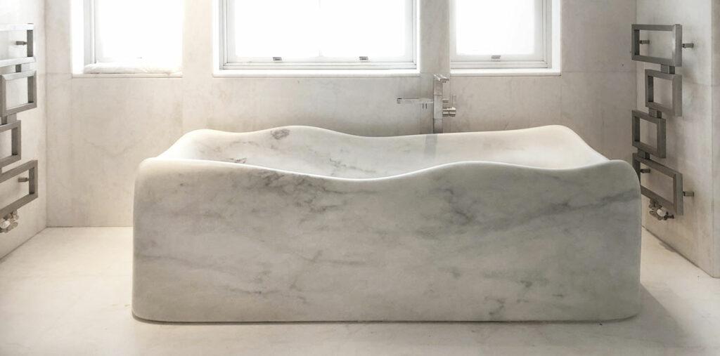 Lightweight marble bathtub - Nuvola