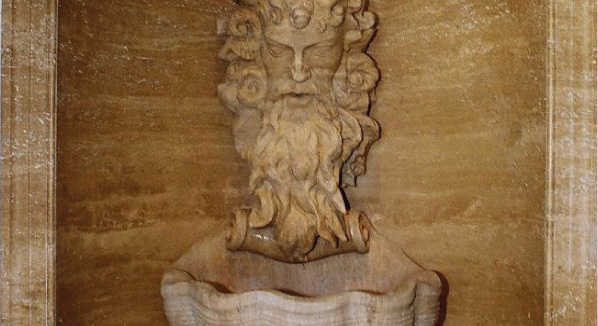 Hand Carved Travertine Fountain Statue – Barbados