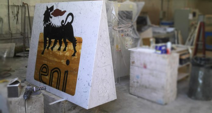 Inlayed Marble Logo for ENI