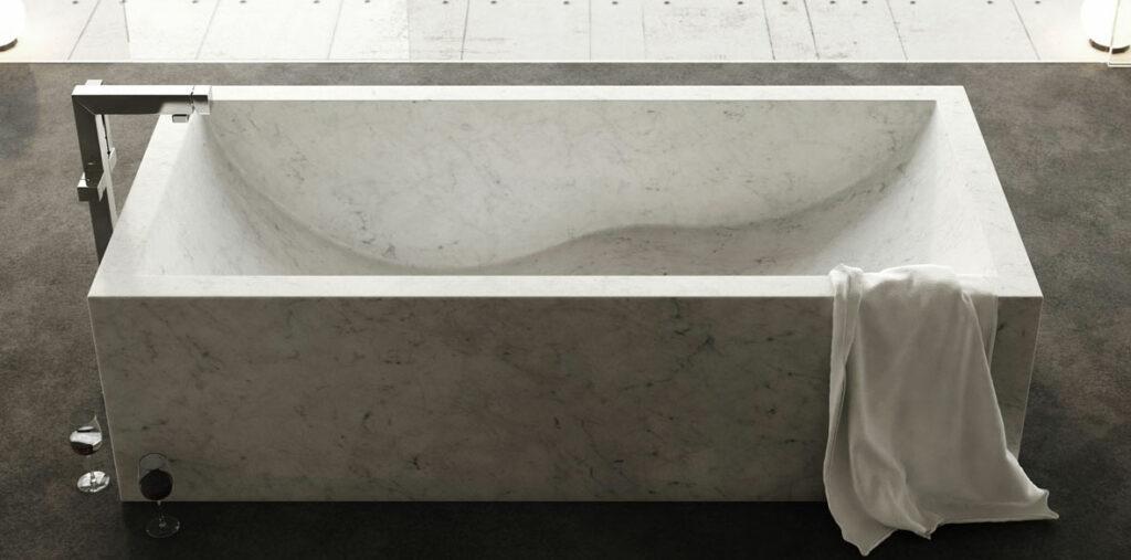 Rectangular marble bathtub - Onda