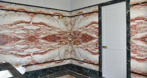 Rivestimenti, lavabi pavimenti e vasche da bagno personalizzate per residenza privata – Sorrento, Italia