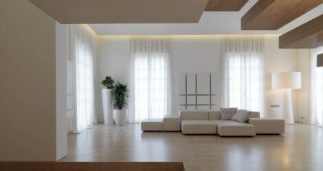 Design e realizzazione interni in travertino per casa privata di lusso – Carrara, Italia
