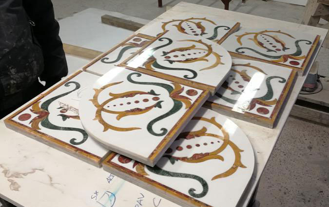 marble inlay made in carrara