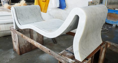 Processing of the marble bathtub Hydra