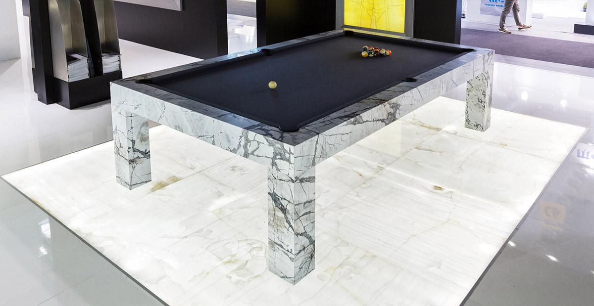 luxury marble pool table
