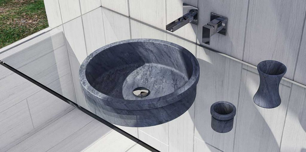 Bagno in marmo - lavandino in marmo