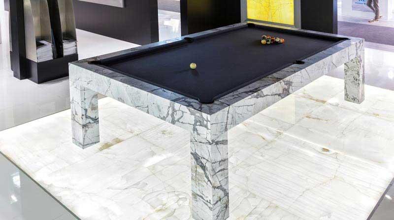 tavolo da biliardo in marmo