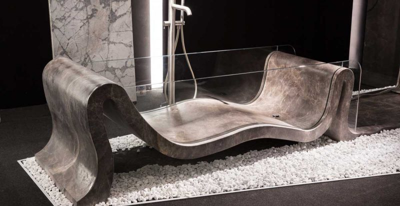 natural stone marble bathtub made in carrara