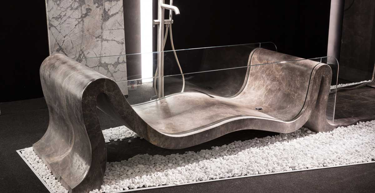 natural stone marble bathtub made in carrara