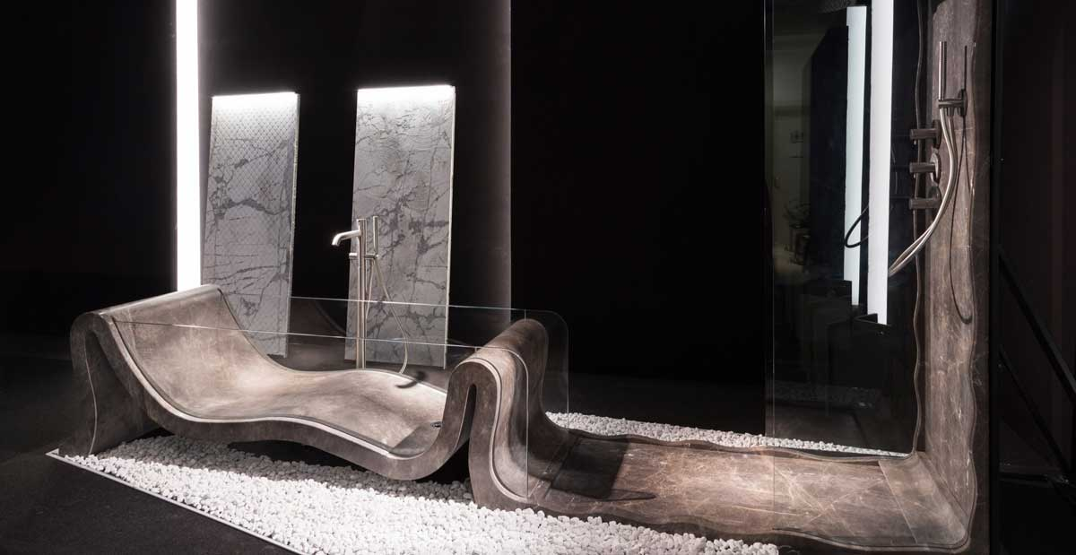 natural stone bathtub hydra by dedalo