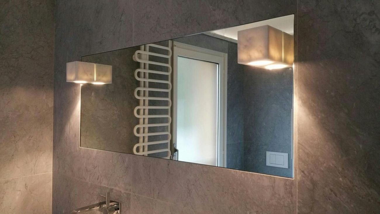 Marble mirror for elegant bathrooms