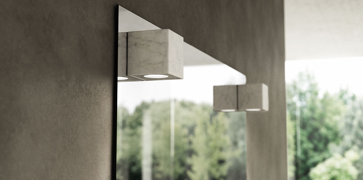 Specchi in Marmo con Luce LED by Dedalo Stone