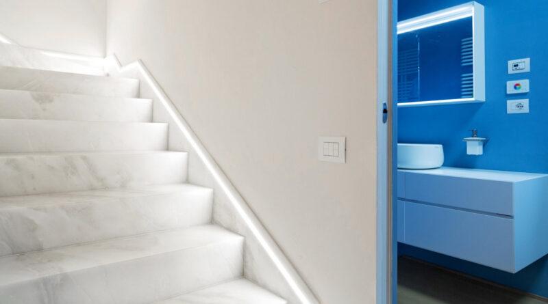 Indoor marble stair