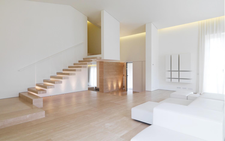 Modern Travertine Stair
