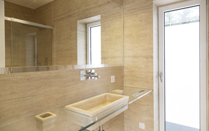Travertine Bathroom Sink And Coverings Made In Italy Dedalo Stone