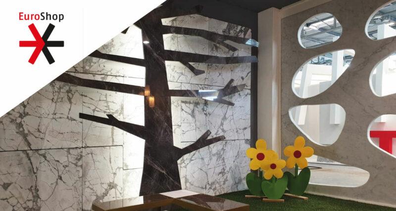 Arredamento in marmo per negozi alla fiera EuroShop di Dusseldorf