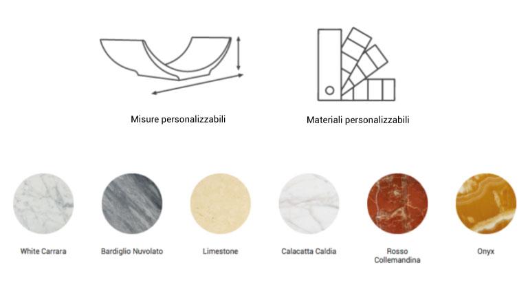 caratteristiche e materiali vasca di marmo