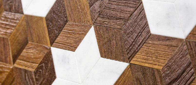 Hardwood and marble floor