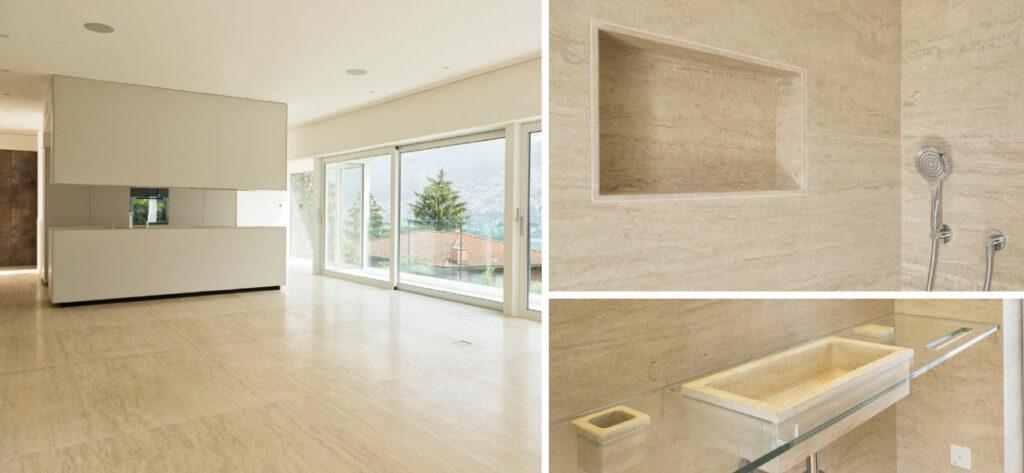 Interior Design per progetti di case, hotel e negozi di lusso in marmo