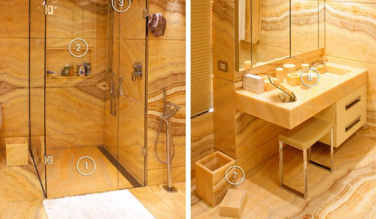 Progetti di Interior Design di lusso in marmo