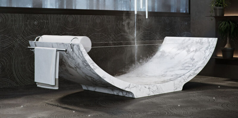 Marble and Glass Bathtub - Lira