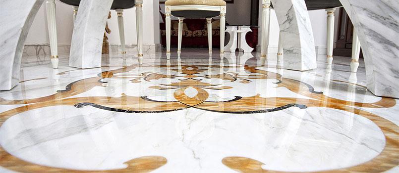Pavimenti intarsiati in marmo