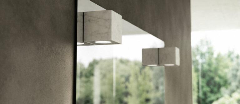 Specchi con luce led in marmo