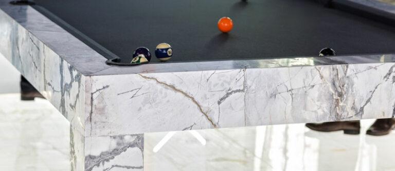 Tavoli da biliardo da arredo di lusso in marmo