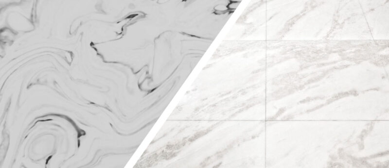 Cultured marble engineered stone or marble