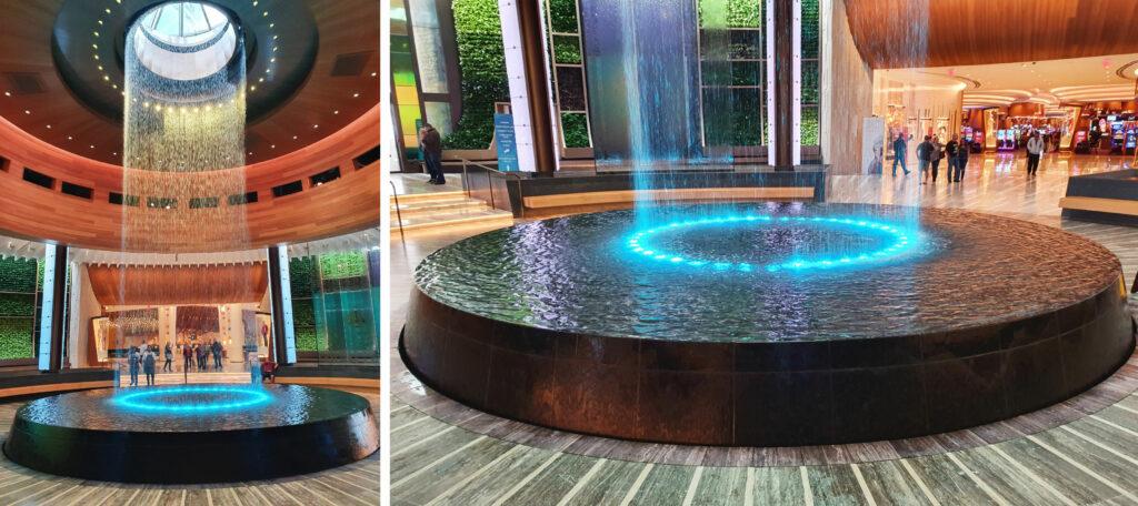 Realizzazione fontana in marmo granito per hotel