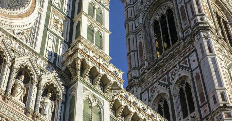 Marmo verde serpentino di Prato nel Duomo di Firenze Santa Maria del Fiore