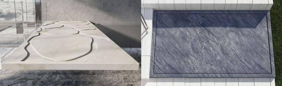 piatti doccia in marmo e pietra naturale moderni