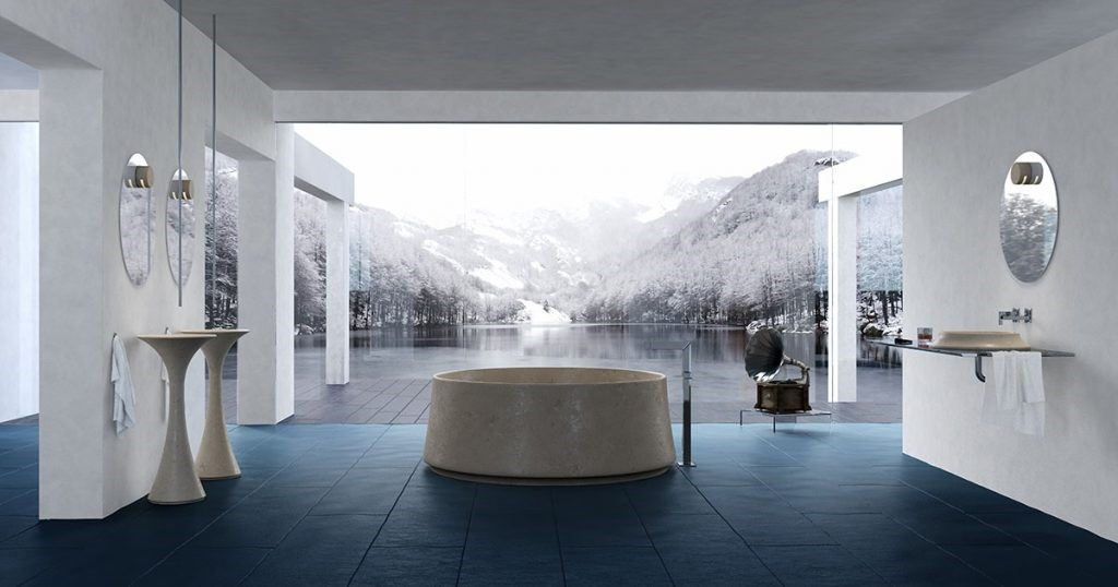 Bagni in marmo e pietra