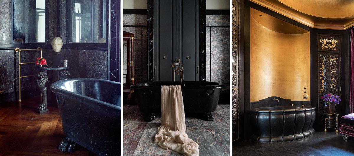 Bagni in marmo nero