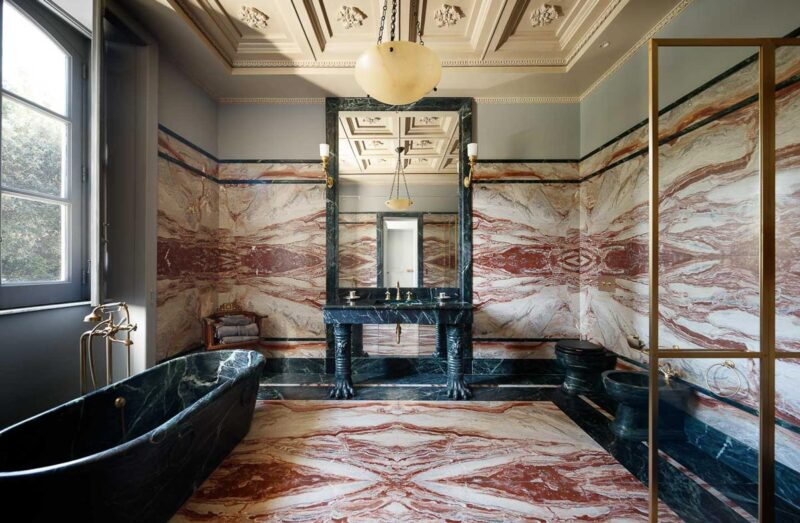 Bathroom Marble Floor and Coverings