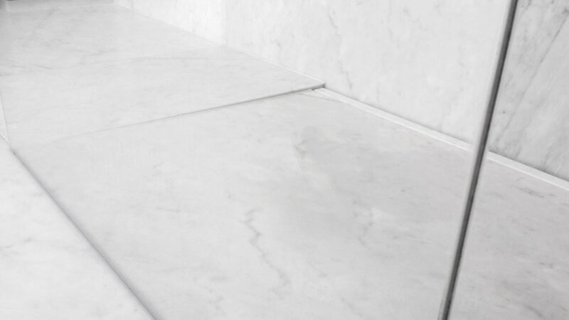 White Carrara Marble Shower Pan