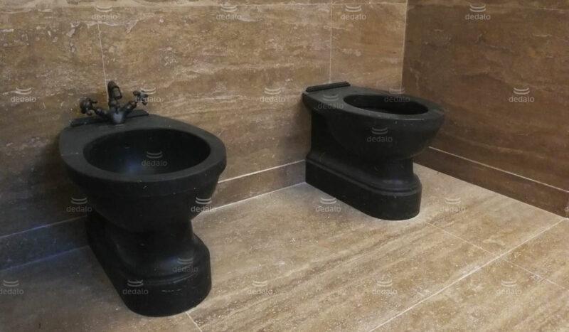 Black Marble Toilet - Bidet and WC