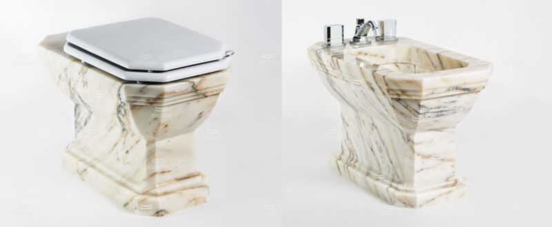 Light marble toilet